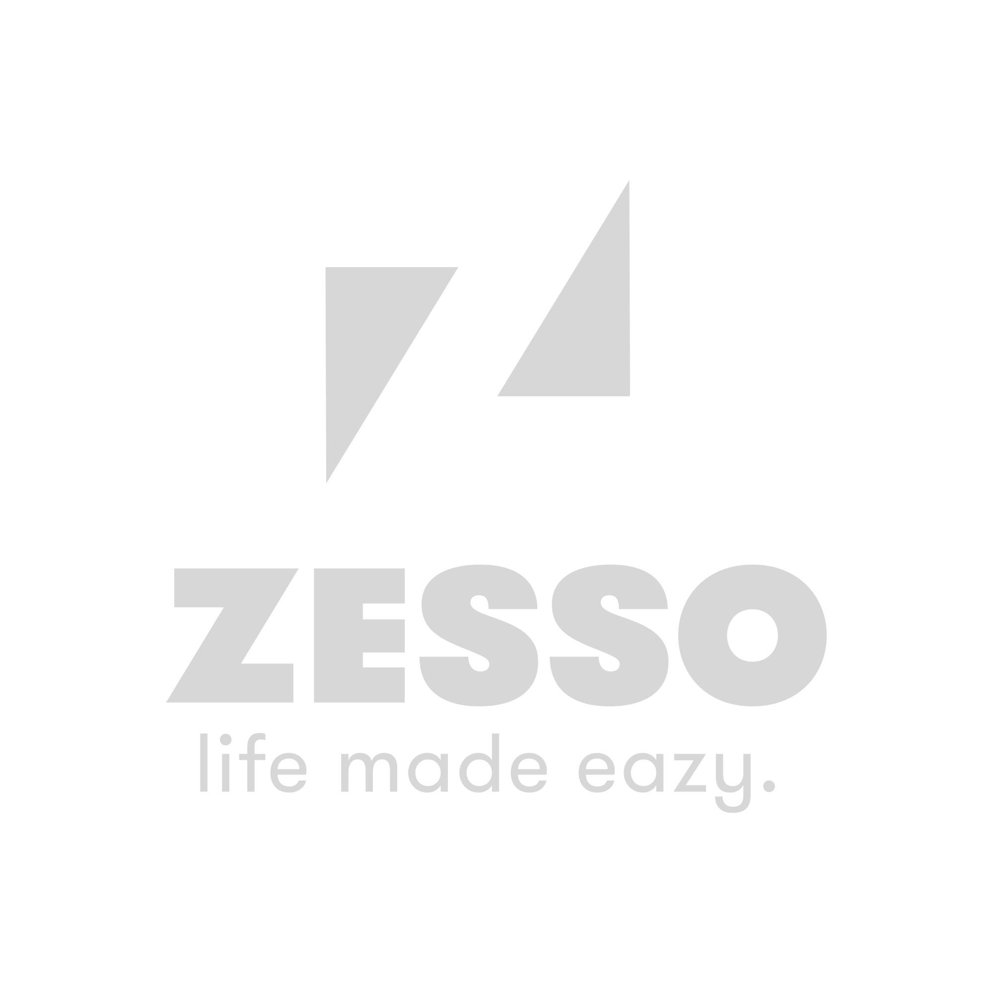 DecoToday Glasgordijn 140 x 240 cm Zigzag Wit