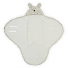 Jollein Couverture Envelopppante 100 x 105 cm Bunny Nougat
