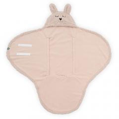Jollein Couverture Envelopppante 100 x 105 cm Bunny Pale Pink