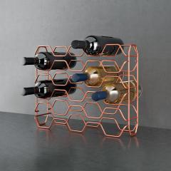 Metaltex Wijnrek 15 Flessen Hexagon