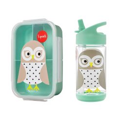 3 Sprouts Bento Lunchbox & Drinkfles Uil