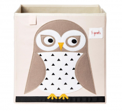 3 Sprouts Boîte de Rangement Owl