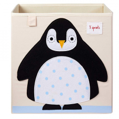 3 Sprouts Boîte de Rangement Pingouin