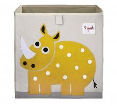 3 Sprouts Boîte de Rangement Rhinocéros