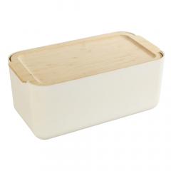 Wenko Boîte À Pain Avec Planche À Découper Bambou