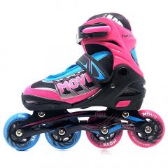 Move Rollers en Ligne Fast Girl Taille 38-41 Rose - Bleu