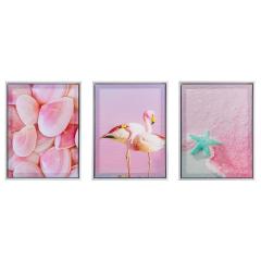 Baytex Impression sur Toile Set Pink Sea 30 cm x 40 cm - 3 Pièces
