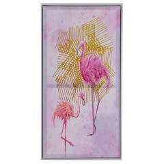 Baytex Canvas Poster Flamingo Gold 40 cm x 80 cm