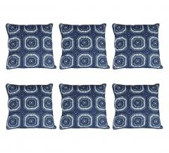 Baytex Coussin Crochet - BYT6191 Bleu foncé - 6 Pièces