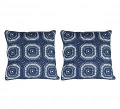 Baytex Coussin Crochet - Byt6191 Bleu Foncé - 2 Pièces