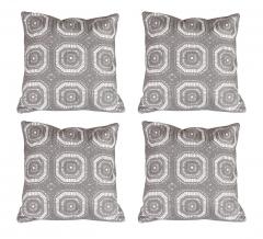 Baytex Sierkussen Crochet - BYT6191 Grey - 4 Stuks