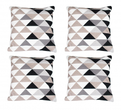 Baytex Sierkussen Triangle - BYT6189 Black-White - 4 Stuks