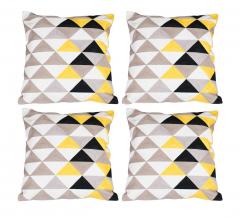 Baytex Sierkussen Triangle - BYT6189 Yellow - 4 Stuks