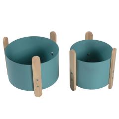 Baytex Set Pot De Fleurs - Cache-Pot Clover Bleu - 2 Pièces