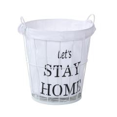 Baytex Panier À Linge Stay Home M - Blanc