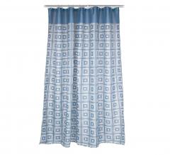 Baytex Douchegordijn Blue Squares 183 cm x 185 cm