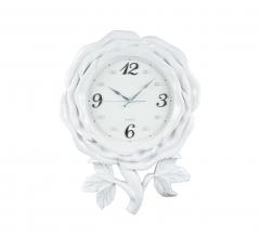 Baytex Horloge Murale Rose - Byt609 Blanc Ø 30 Cm