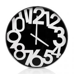 Baytex Horloge Murale Number - Byt618 Argent Ø 40 Cm