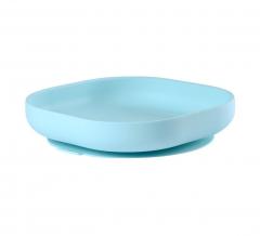 Béaba Assiette Ventouse Silicone Bleu