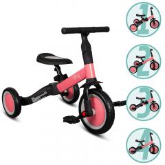 Billy 4en1 Vélo Draisienne Tricycle Évolutif pour Enfants Fresa Rose