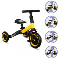 Billy 4en1 Vélo Draisienne Tricycle Évolutif pour Enfants Fresa Jaune