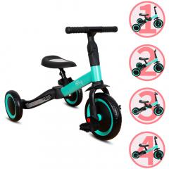 Billy 4en1 Vélo Draisienne Tricycle Évolutif pour Enfants Fresa Turquoise