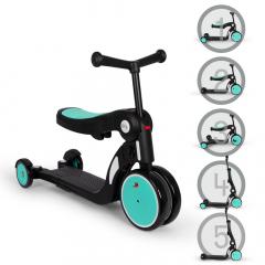 Billy 5en1 Scooter & Vélo Draisienne Évolutif pour Enfants Quince Bleu