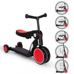 Billy 5en1 Scooter & Vélo Draisienne Évolutif pour Enfants Quince Rouge