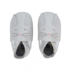 Bobux Chaussures Baby Soft Soles Silver Hop - Petit