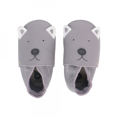 Bobux Chaussures Baby Soft Soles Gull Gris Woof - Grand