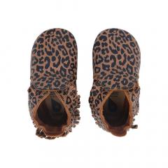 Bobux Babyslofjes Soft Soles Caramel Leopard Print - Large
