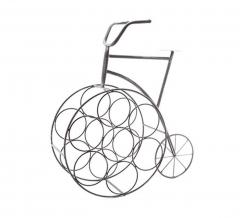 Cosy @ Home Étagère à Bouteilles - Casier à Vin Vélo 7 Bouteilles
