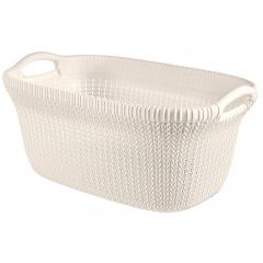 Curver Panier À Linge Knit 40L Oasis White
