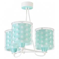 Dalber Lampe à Suspension Dots Vert - 3 Lumières