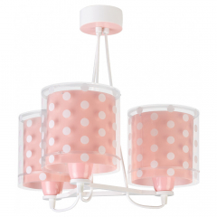 Dalber Lampe à Suspension Dots Coral - 3 Lumières