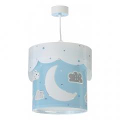 Dalber Lampe à Suspension Moon Bleu - Glow In The Dark