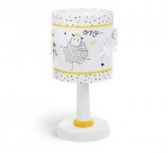 Dalber Lampe de Table Time To Sleep Blanc