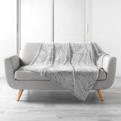 Plaid Bliss 125 cm x 150 cm Light Grey