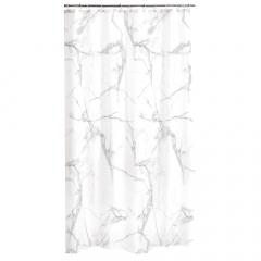 Douchegordijn 180 x 200 cm White Marble