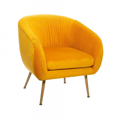 Eazy Living Fauteuil Delray Mosterdgeel