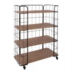 Eazy Living Cabinet Sur Roues Alban 4 Niveaux
