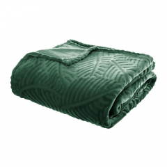 Eazy Living Plaid Fleece Leaves - 220 cm x 240 cm - Vert