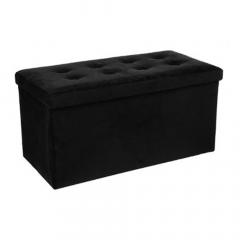 Eazy Living Pouf + Boîte de Rangement Large Mathieu Noir