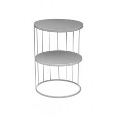 Eazy Living Table Gigogne Destin Ø 36 cm Gris