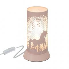 Eazy Living Lampe de Table avec Animaux Nature Rose