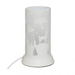 Eazy Living Lampe de Table avec Animaux Nature Blanc
