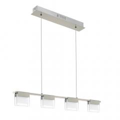 Eglo Hanglamp Clap 4 Lichts LED Nikkel Mat