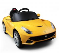 Ferrari F12 Berlinetta Voiture Électrique Pour Enfants 6 V Jaune