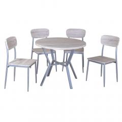 FurniStyle Eetkamerset 5-delig Meran – Eettafel Met 4 Stoelen