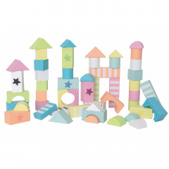 Jabadabado Houten Speelblokken Multicolor 50 Stuks